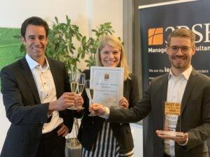 3DSE Presiträger Best od Consulting Mittelstand Award 2020